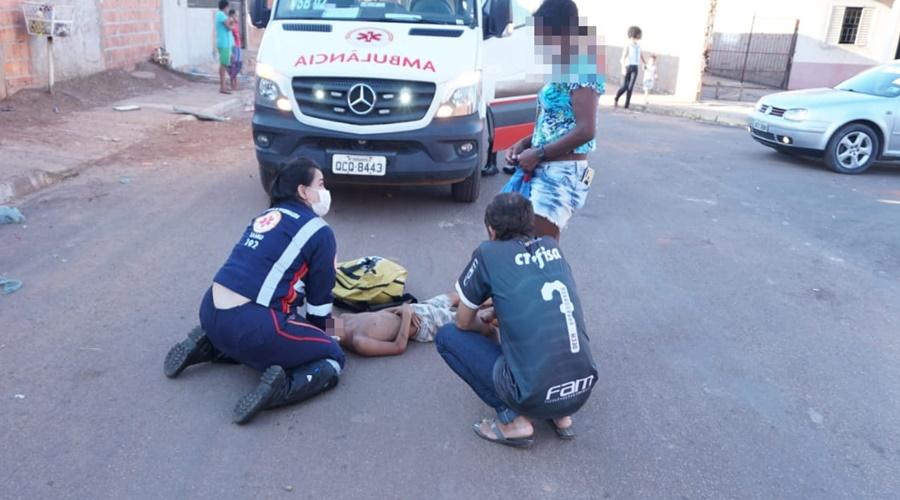 Imagem: atropelamento crianca Criança de 7 anos é atropelada enquanto brincava com amigos