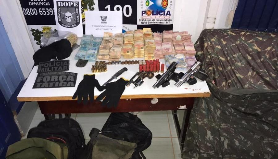 Imagem: material apreendido Forças de Segurança já recuperaram R$ 288 mil e identificaram 8 suspeitos