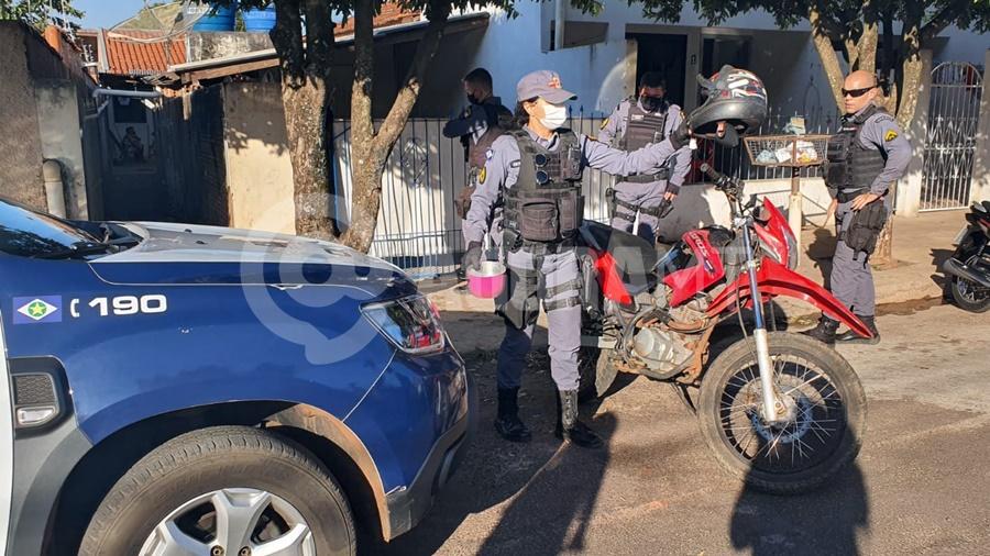 Imagem: moto recupera pm tga Polícia prende dois suspeitos de furto em Tangará da Serra