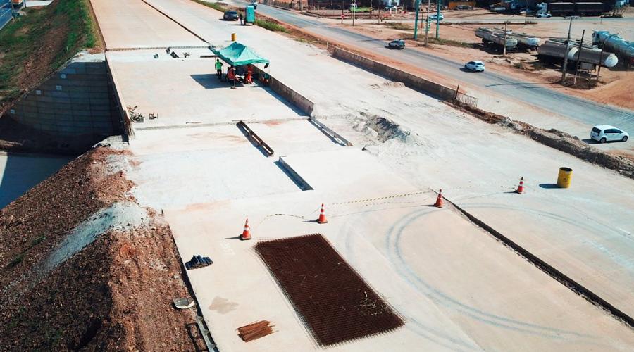 Imagem: pastedImage DNIT avança nas obras de duplicação no Distrito de Cuiabá