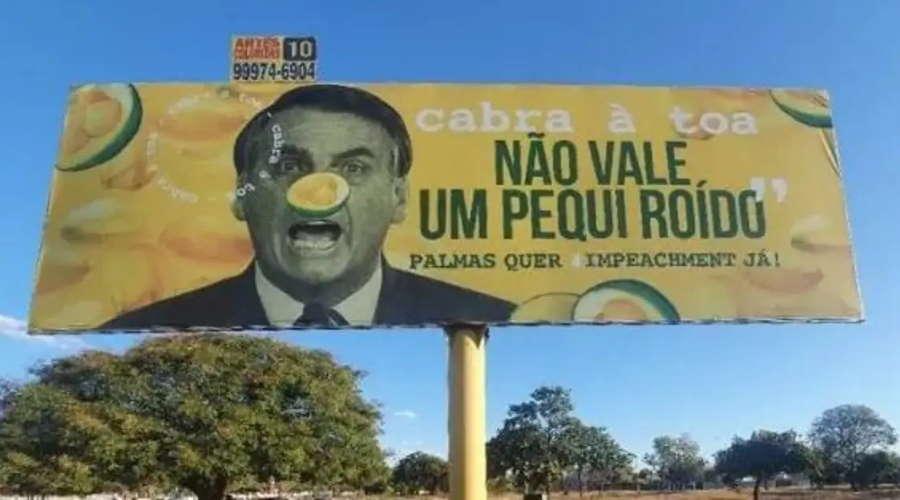 Imagem: pequiroido outdoor Justiça tranca inquérito sobre outdoors com críticas ao presidente