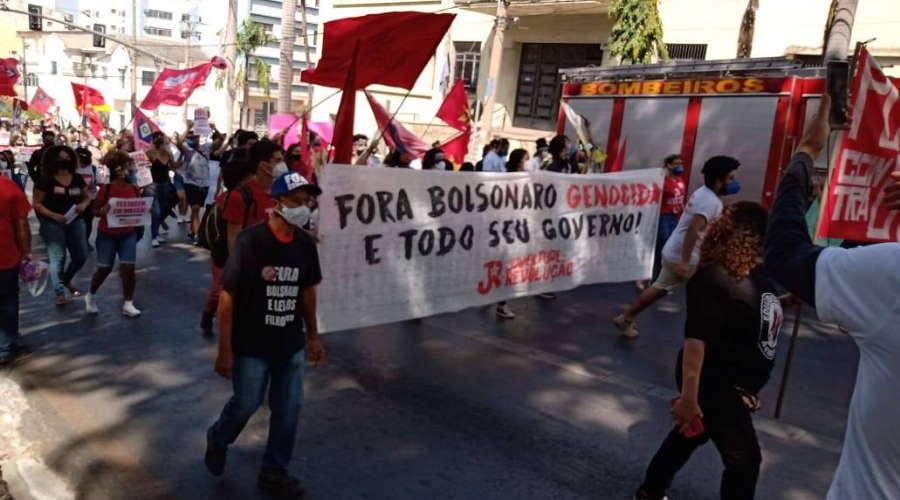 Imagem: protesto cuiaba Protesto na Vila Operária marcou ato nacional em Rondonópolis