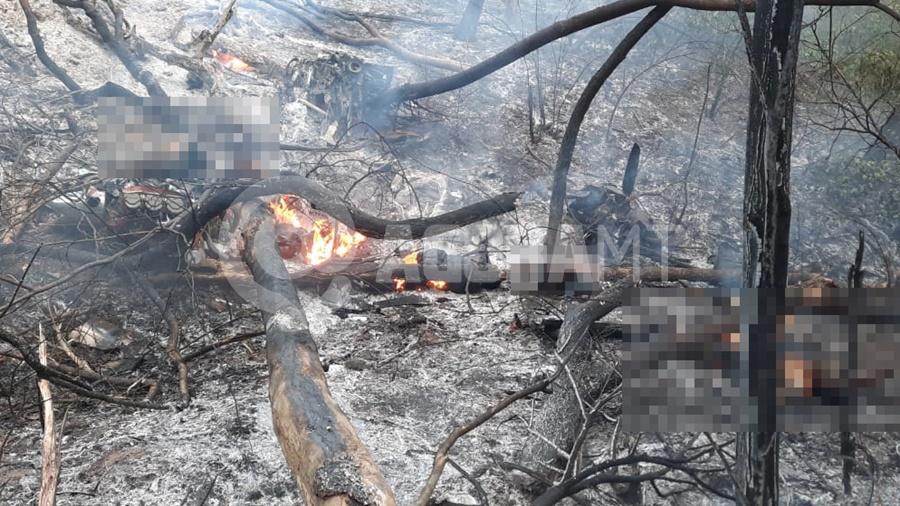 Imagem: queda avisao Queda de avião mata quatro pessoas e assusta moradores da Rodovia do Peixe