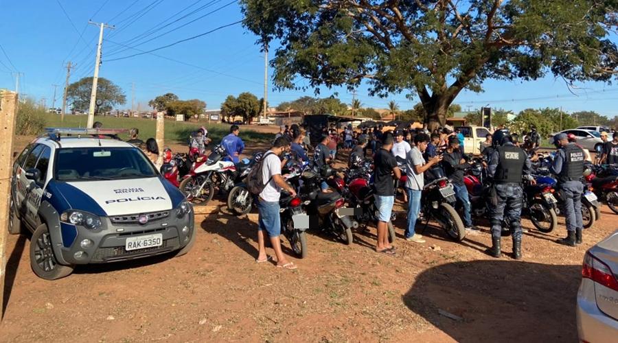 Imagem: roless Operação conjunta tira de circulação 'rolés do grau' e apreende motocicletas