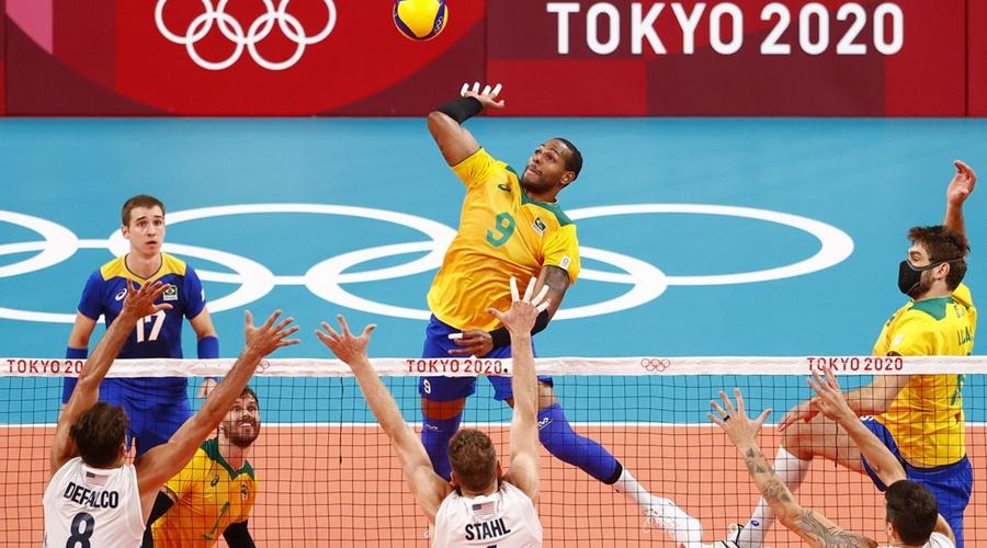 Imagem: 2021 07 30t041610z 51811221 sp1eh7u0buu0t rtrmadp 3 olympics 2020 vvo m team6 gpb 001000 Olimpíada | Brasil bate EUA e se recupera no vôlei masculino