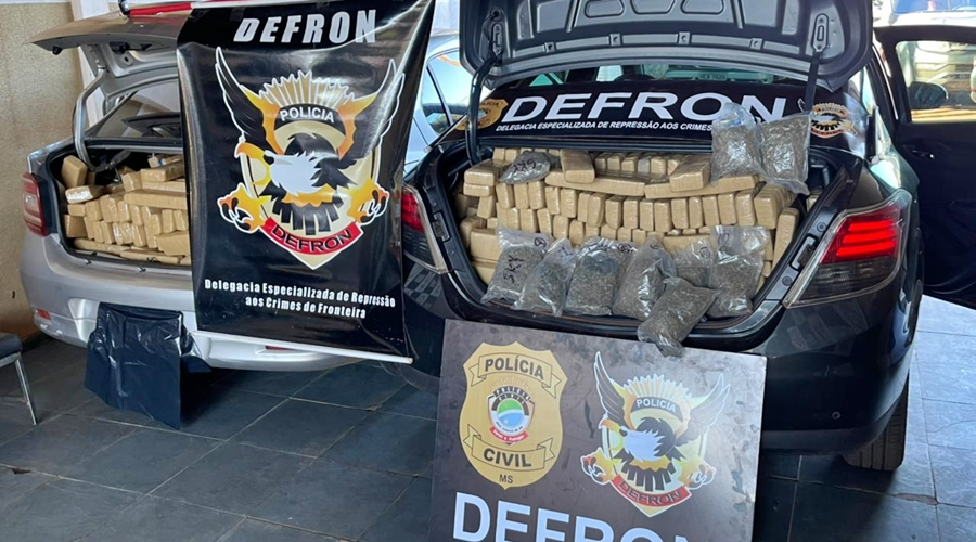 Imagem: 478de703 e89c 426b ade3 f87cd7d95c97 Comércio do tráfico é fechado e drogas com destino a MT são apreendidas