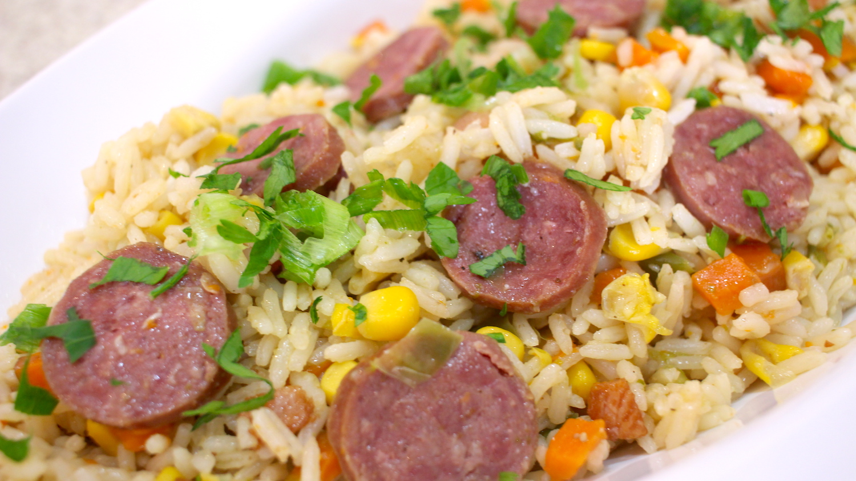 Imagem: ARROZCOMCALABRESA Aprenda a fazer arroz de panela de pressão