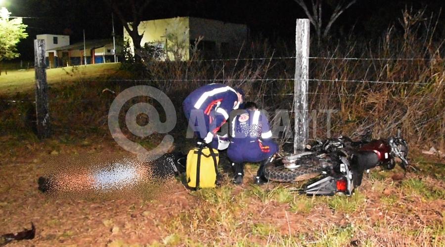 Imagem: Condutor da moto em obito na Rodovia do Acidente na Rodovia do Peixe mata jovem de 25 anos e menor de 16
