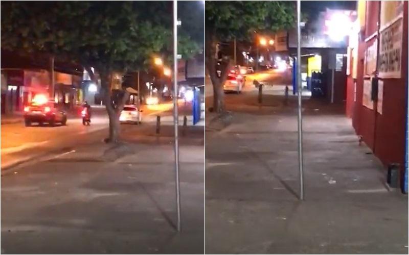 Imagem: Derrubado moto Acusado de tráfico, homem é perseguido pela PM; Veja vídeo