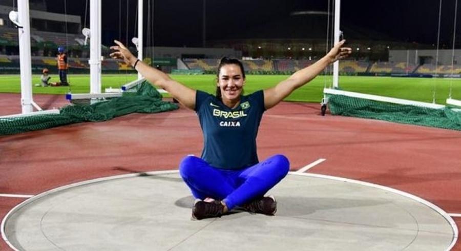 Imagem: Fernanda Borges Esportista brasileira do lançamento de disco é suspensa por doping