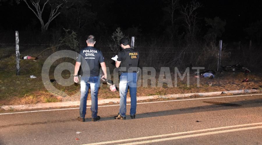 Imagem: Ocupantes da motocicleta sem vida Acidente na Rodovia do Peixe mata jovem de 25 anos e menor de 16