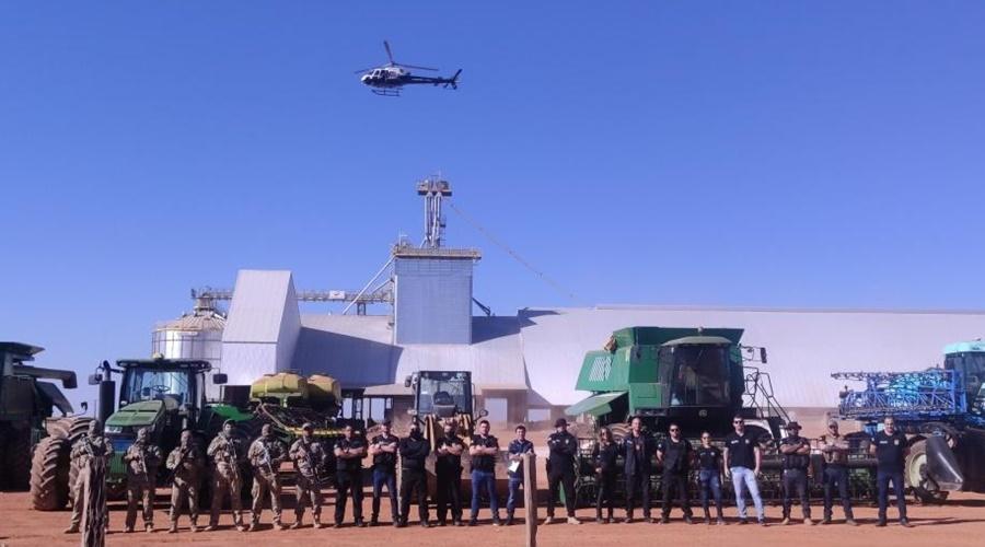 Imagem: Operacao nos estados de MT e MG Operação cumpre 24 mandados em MT e MG contra desvio e receptação de cargas de soja