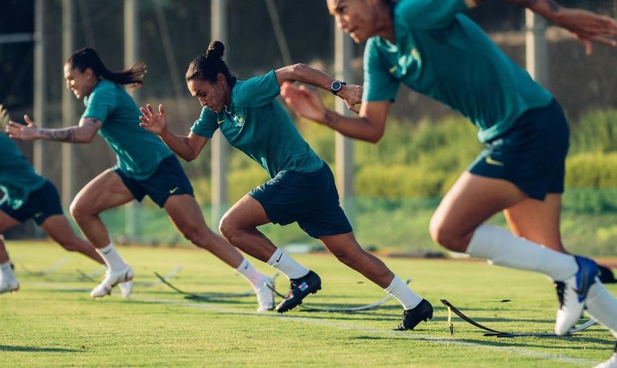 Imagem: SELECAO FEMINIA Seleção feminina de futebol inaugura participação do Brasil em Tóquio