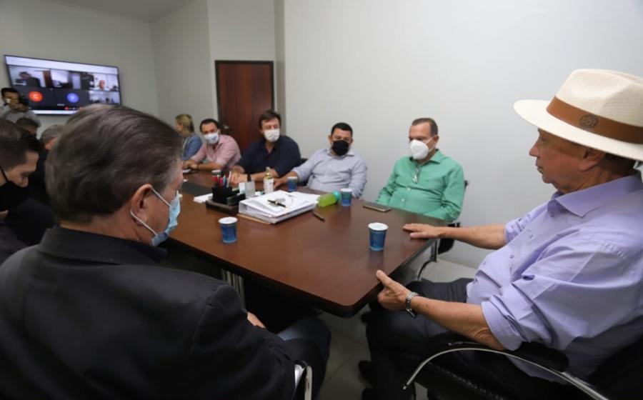 Imagem: Wellington Fagundes em reuniao Lideranças do Nortão cobram do Governo solução para a BR-163 em Mato Grosso