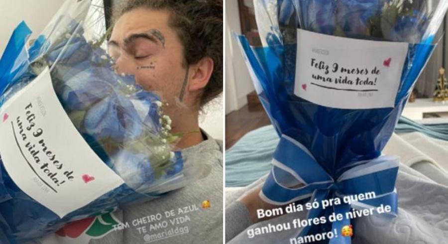 Imagem: Winderson ganha flores Whindersson ganha flores em comemoração aos nove meses de namoro