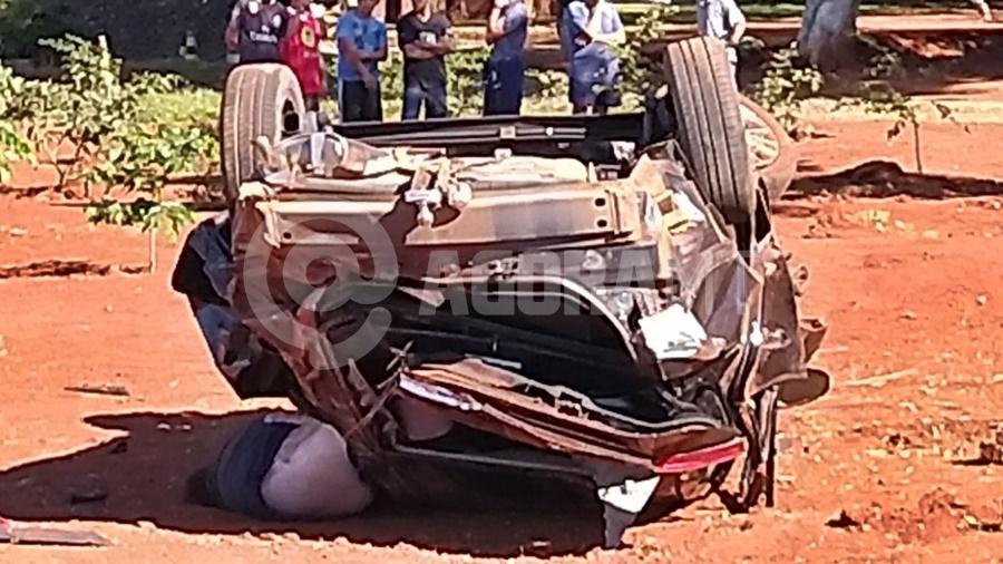 Imagem: acidente dom 1 Tentativa de ultrapassagem deixa uma pessoa morta na MT-480