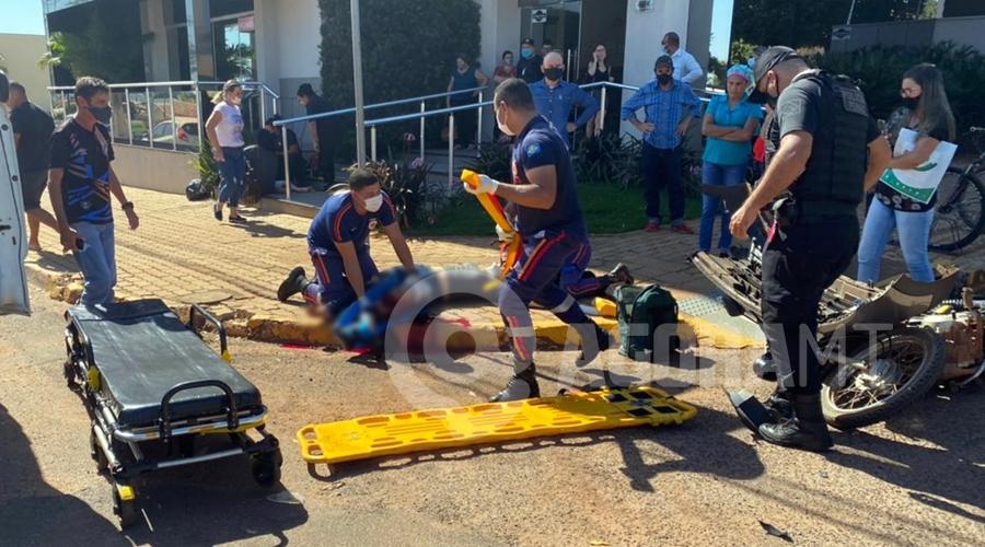 Imagem: acidente tga.jpeg2 Motociclista perde pedaços da perna e criança fica ferida