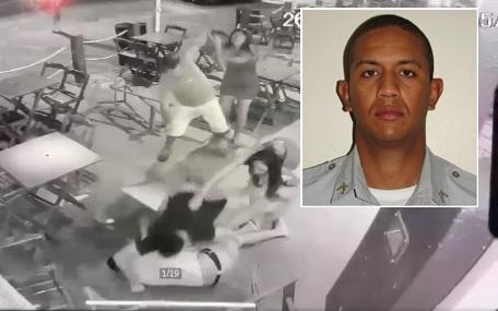 Imagem: agressao militar Justiça recebe denúncia contra acusados de matar PM espancado