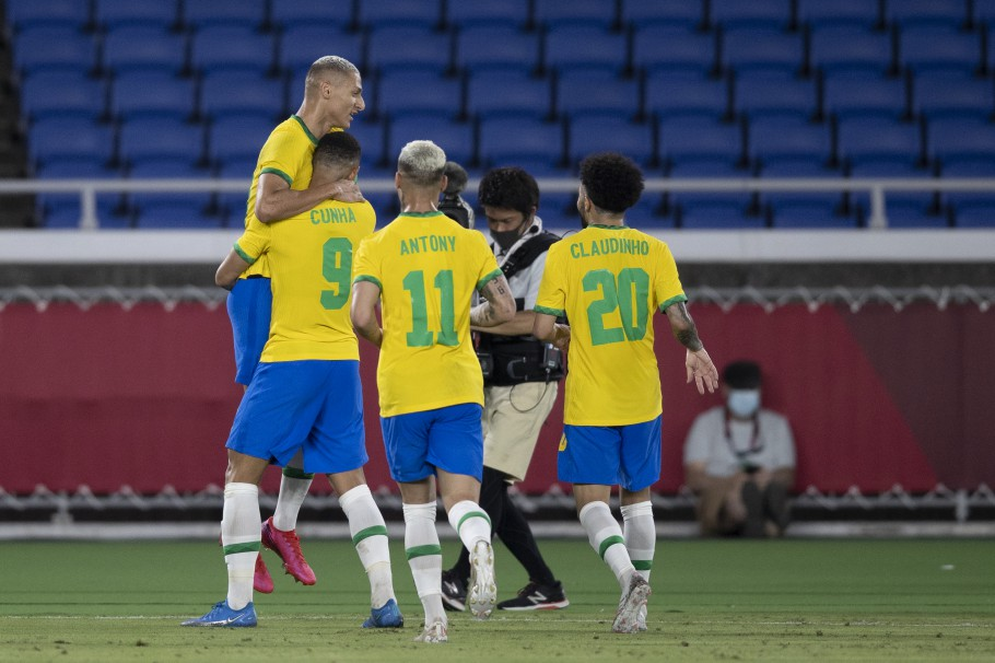 Imagem: brasil alemanha lucas figueiredo Brasil vence Alemanha na estreia do futebol masculino