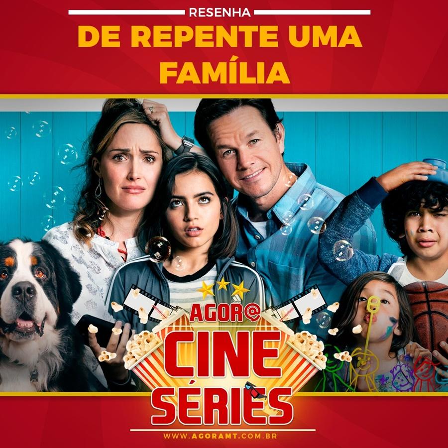 Imagem: capa cineeseries 'De repente uma família' | Um problema social narrado de uma forma leve e amorosa