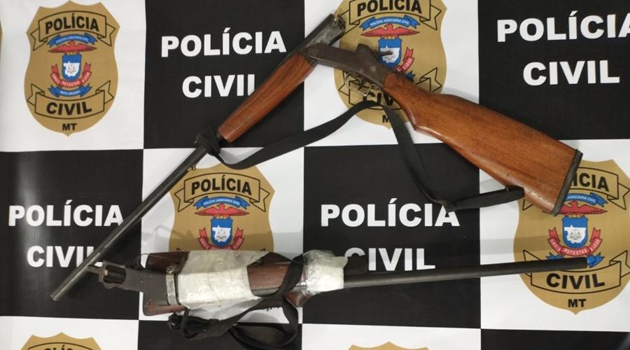 Imagem: comodoro homicidio PC identifica suspeitos e apreende armas em investigação de homicídio contra mulher
