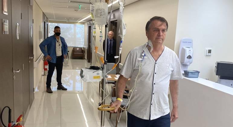 Imagem: jair bolsonaro no hospital em sp 17072021153649818 Após boa evolução, Bolsonaro recebe alta médica