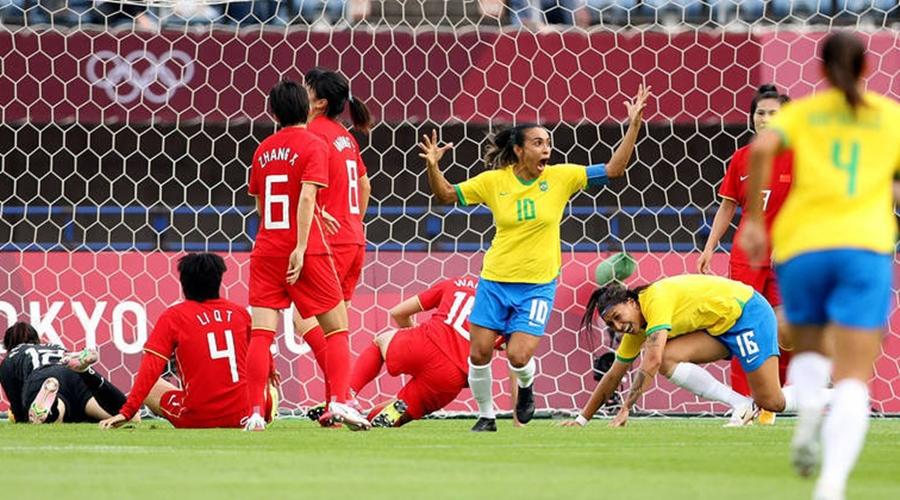 Imagem: olimpiada futebol feminino selecao brasil china marta gol 21072021051400908 Brasil estreia com goleada sobre a China no futebol feminino