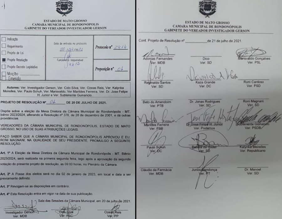 Imagem: prof resol antecipa camara Câmara pode votar hoje projeto que antecipa eleição da Mesa Diretora