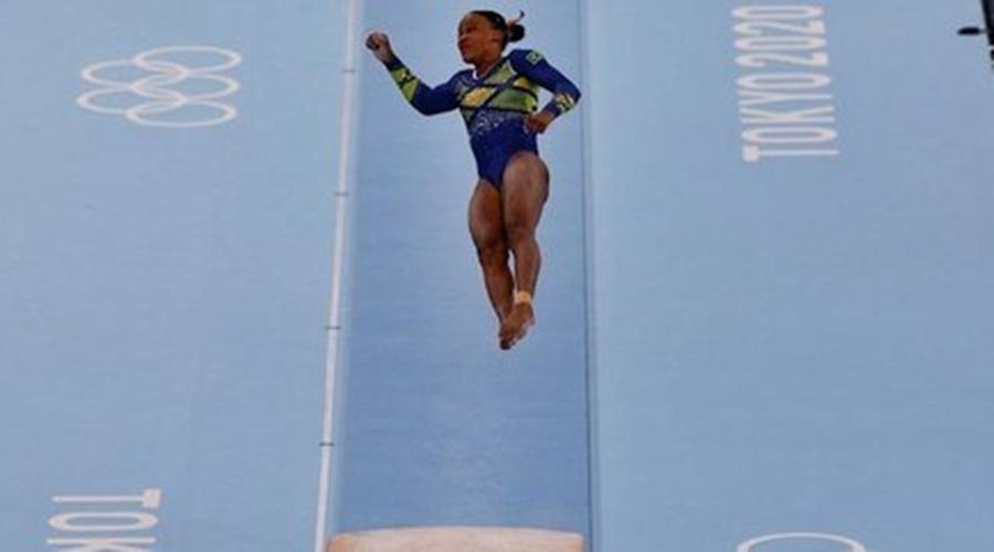 Imagem: rebeca andrade 31072021144411630 Rebeca Andrade disputa prova de salto com chances de levar o ouro