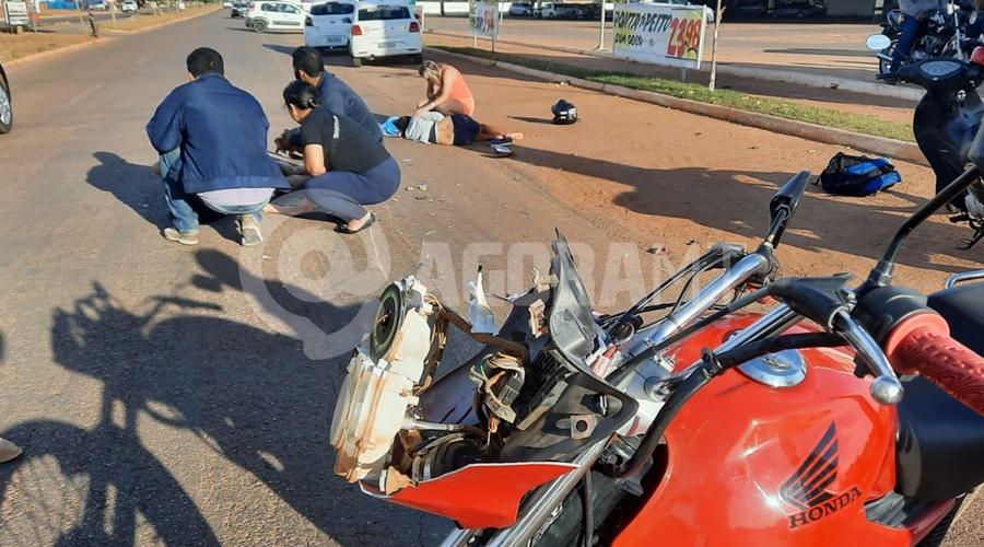 Imagem: 5ce6f0f7 ee81 4425 8e57 f76a3c4d0ba1 Mulheres são atropeladas quando seguiam para o trabalho na Júlio Campos