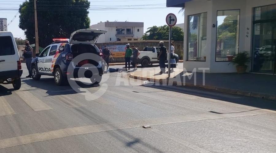 Imagem: 5dd76f62 4792 4a13 a8b2 7ecdf9aa90fe Trabalhador fica ferido após colisão em cruzamento