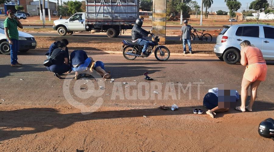 Imagem: 7c104598 84a5 49f4 a3c6 b091cef4d288 Mulheres são atropeladas quando seguiam para o trabalho na Júlio Campos