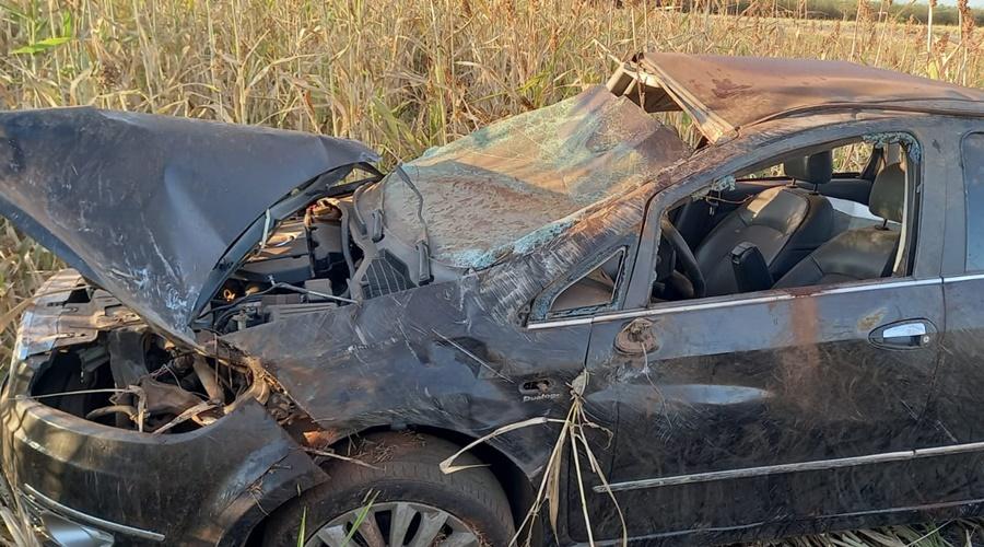 Imagem: 95b1730a 1227 4f7a aed3 fd6a2d408877 Jovem capota carro e morre na MT-344