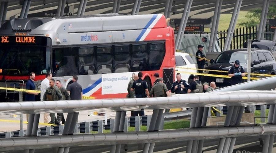 Imagem: Disparos ocorreram em um terminal de transporte publico proximo ao Pentagono Pentágono é fechado após tiroteio nos arredores do prédio