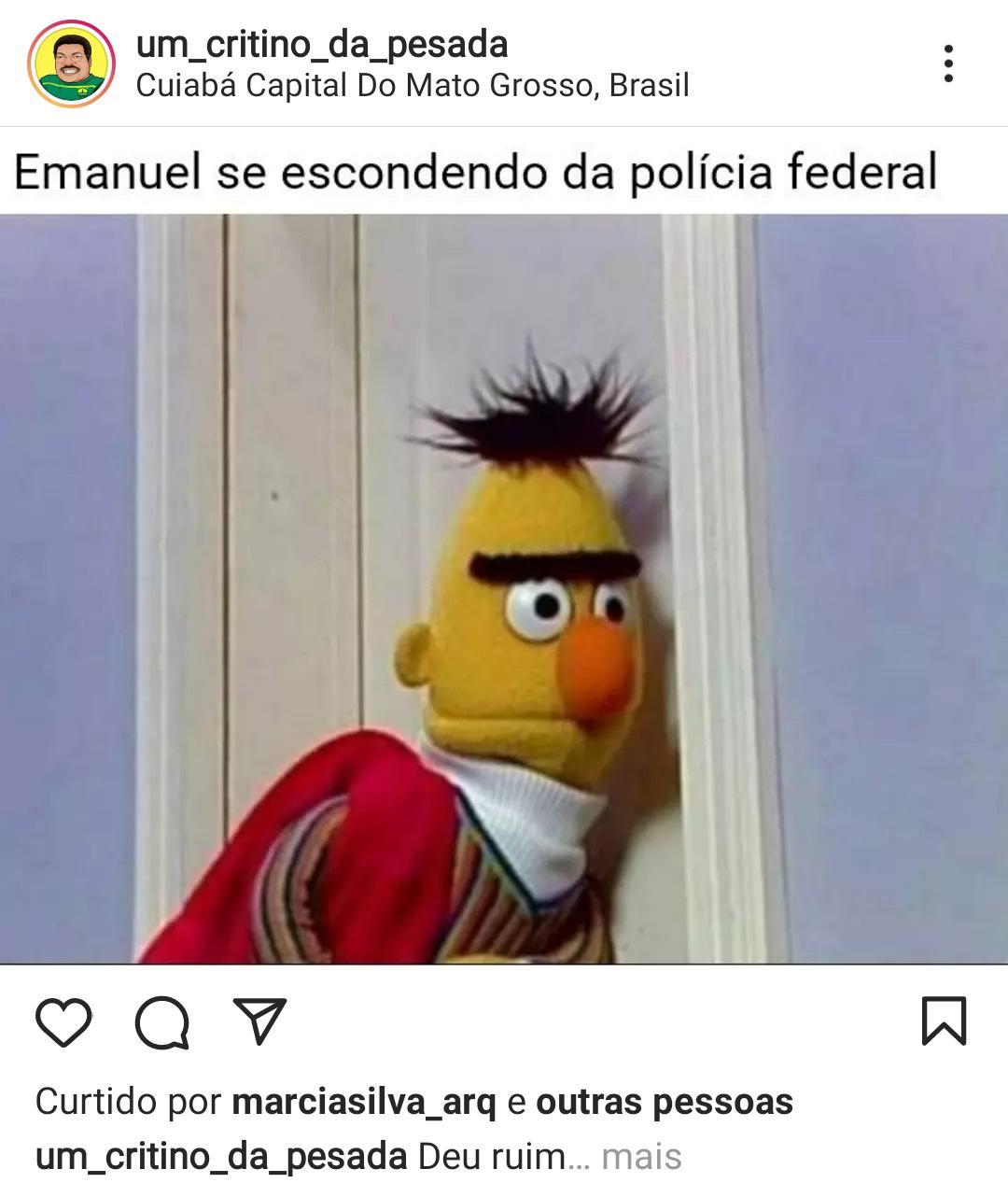 """Imagem: WhatsApp Image 2021 08 02 at 14.46.44 """"Sumiço"""" de Emanuel vira meme nas redes sociais"""