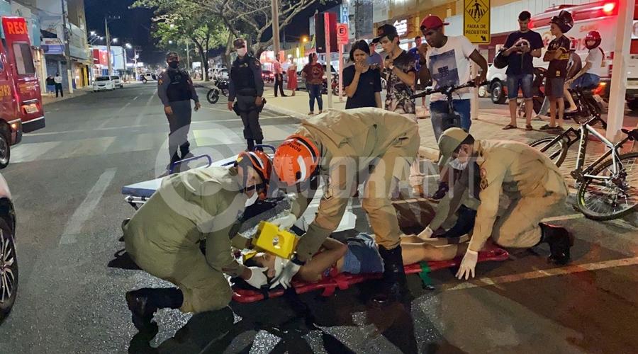Imagem: bdd10471 2714 4e07 8fb3 1cfec7dca3ef Ciclista é atropelada ao tentar atravessar faixa de pedestre