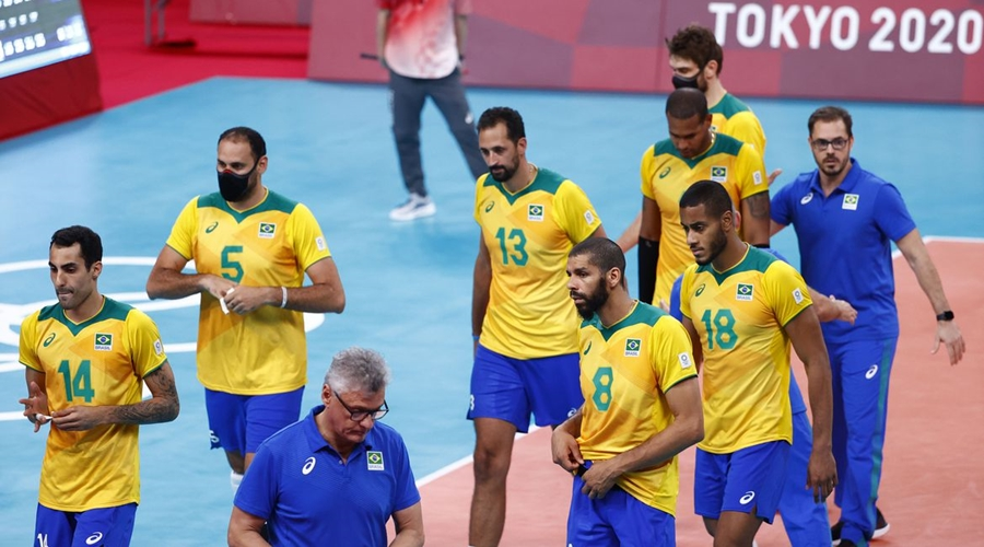 Imagem: brasil volei masculino eliminacao toquio Vôlei | Brasil perde para Comitê Russo e se despede da briga pelo ouro