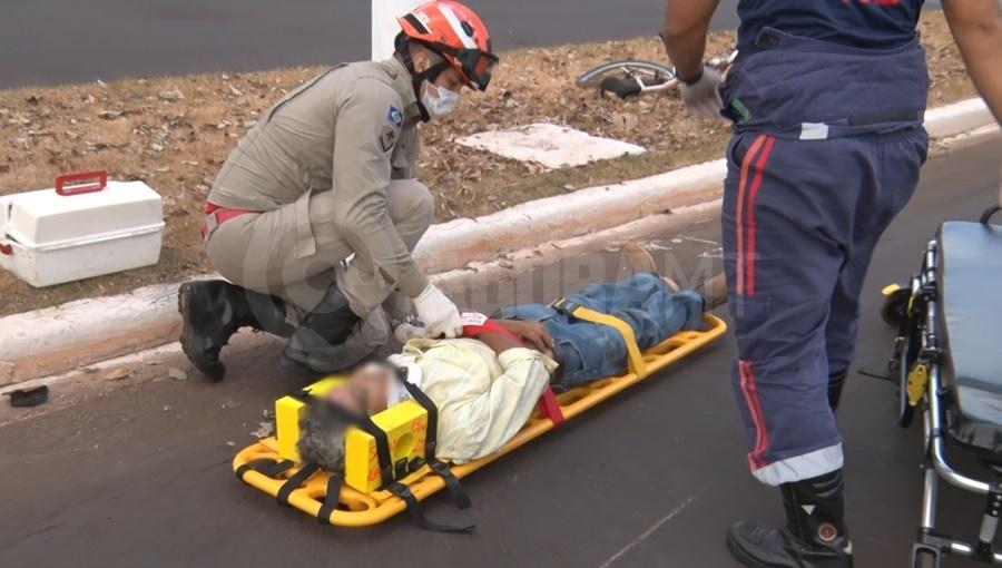 Imagem: 2 vitima acidente Motociclista tem traumatismo craniano após batida com ciclista