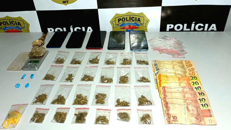 Imagem: Droga apreendida 2 Polícia Civil prende três envolvidos com tráfico de drogas e associação criminosa