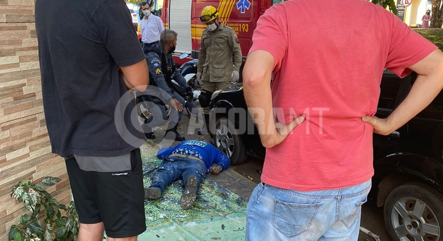 Imagem: Homem cai de predio do 3o andar Sem EPI, pintor recebe descarga elétrica e cai de cabeça no chão do 3º andar de prédio