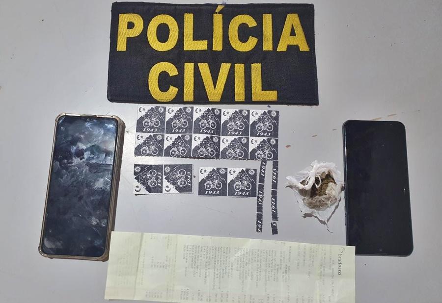 Imagem: LSD apreendido Polícia Civil prende duas mulheres e apreende drogas sintéticas avaliadas em mais de R$18 mil