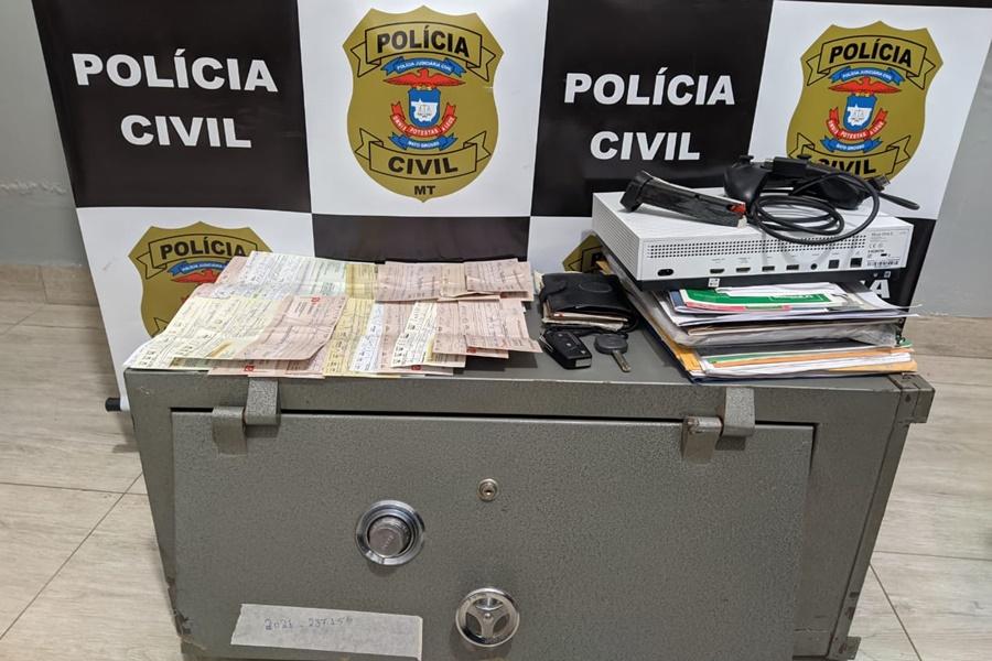Imagem: Objetos recuperados Polícia Civil prende suspeito e recupera objetos roubados
