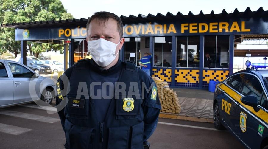 Imagem: PRF Buss Tráfico fica no prejuízo após apreensão de mais de meia tonelada de droga em Rondonópolis