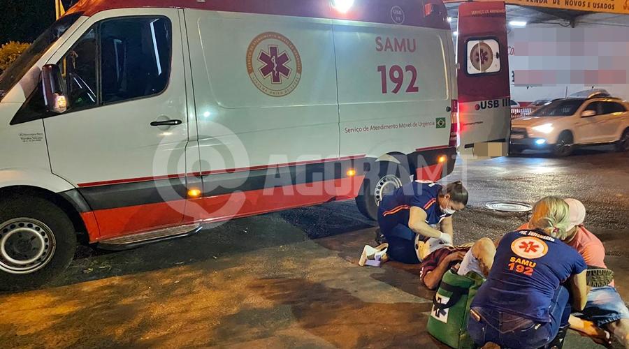 Imagem: e5f9558c 4087 4018 9c3d 53ca8527308a Entregador tem fratura após colisão com carro