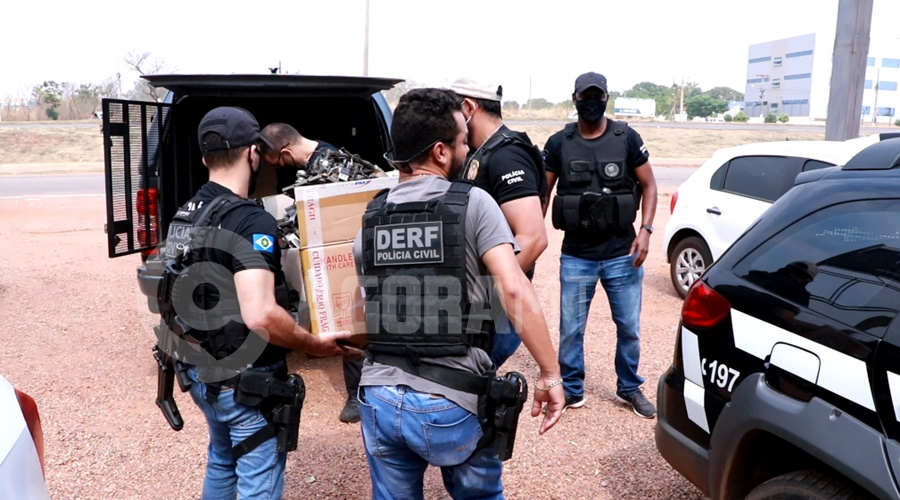 Imagem: pjc operacao Derf desarticula esquema de empresas envolvidas no comércio de peças furtadas de caminhões