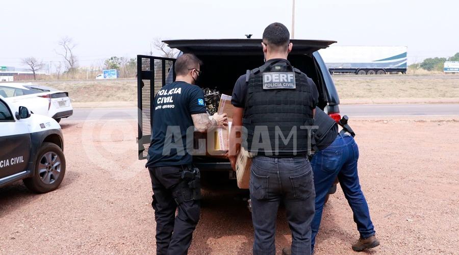 Imagem: pjc operacao2 Derf desarticula esquema de empresas envolvidas no comércio de peças furtadas de caminhões