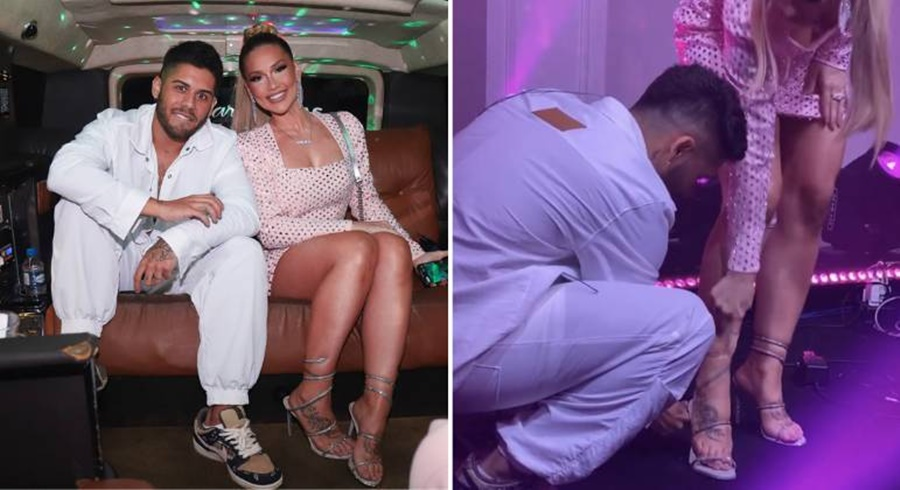 Imagem: sandalia Virginia Virgínia Fonseca ostenta sandália de R$17 mil em festa