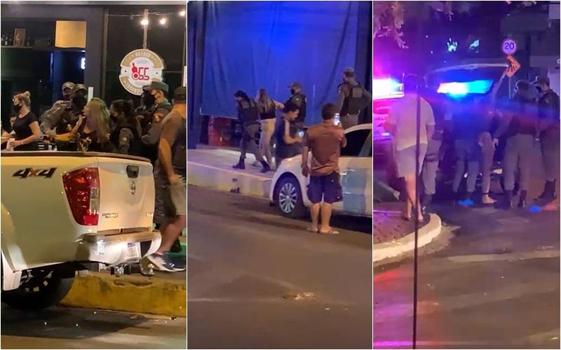 Imagem: Mulher praca Mulher que jogou cerveja em PM descumpre restrições e volta a ser presa na Praça Popular