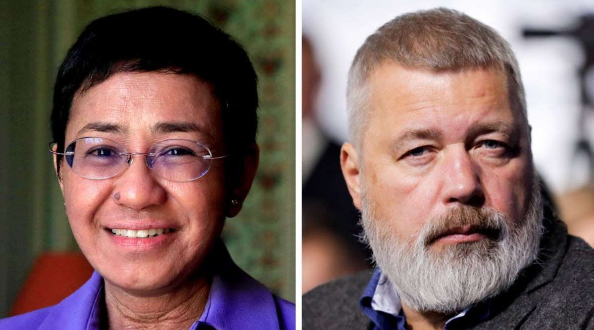 Imagem: ganhadores nobel paz Nobel da Paz vai para dois jornalistas que lutam pela liberdade de expressão