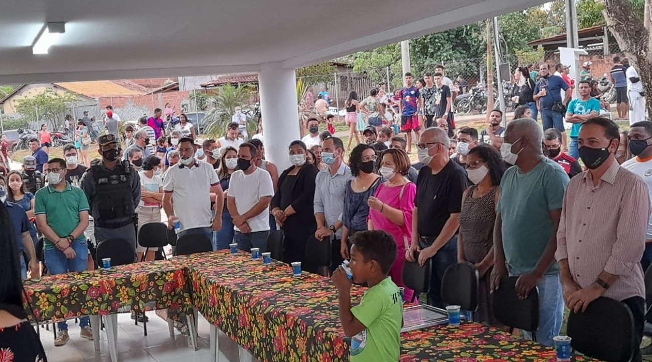 Imagem: inauguracao escodidinho Prefeito inaugura Parque Ecológico e anuncia voto em Lula para presidente